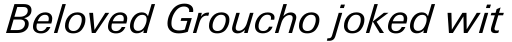 Linotype Univers Com 431 Basic Italic sample