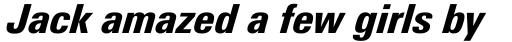 Linotype Univers Com 821 Condensed Black Italic sample