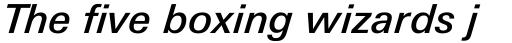 Linotype Univers Com 531 Basic Medium Italic sample