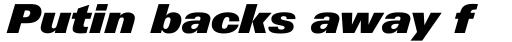 Linotype Univers Com 931 Basic ExtraBlack Italic sample