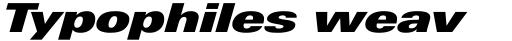 Linotype Univers Com 941 Extended ExtraBlack Italic sample