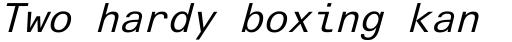 Linotype Univers Com 431 Typewriter Italic sample