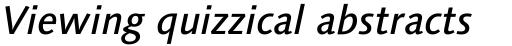 Linotype Syntax Com Medium Italic sample