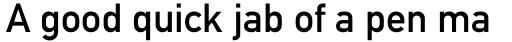 DIN 1451 Paneuropean MittelSchrift sample