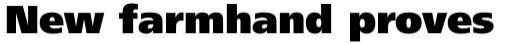 Frutiger Pro 95 UltraBlack sample