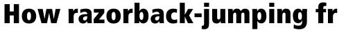 Frutiger Pro 87 ExtraBlack Condensed sample