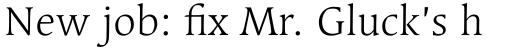 Linotype Syntax Serif Std Light sample