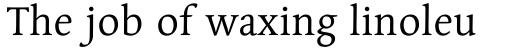Linotype Syntax Serif Std Regular sample