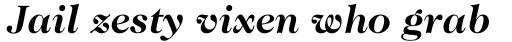 Caslon 224 Bold Italic sample