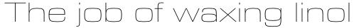 Eurostile Next Pro Extended UltraLight sample