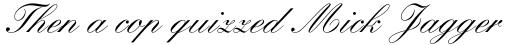 Kuenstler Script Com Medium sample