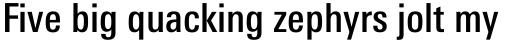 Linotype Univers Com 520 Condensed Medium sample