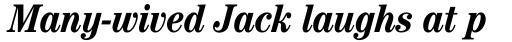 ITC Century Cond Bold Italic sample
