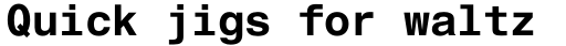 Helvetica Monospaced Std Bold sample