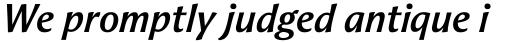 Aeris Pro A Bold Italic sample