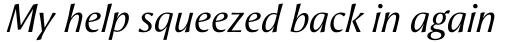 Aeris Pro Title A Italic sample