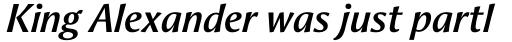 Aeris Pro Title A Bold Italic sample