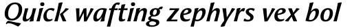 Aeris Std A Bold Italic sample