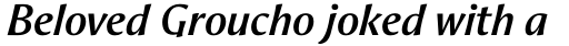 Aeris Std Title A Bold Italic sample