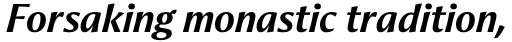 Aeris Std Title B Bold Italic sample