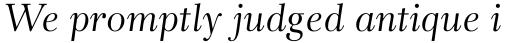 Rabenau Std Italic sample