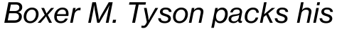 Neue Haas Grotesk Pro Text 56 Italic sample