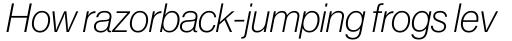 Neue Haas Grotesk Pro Display 36 ExtraLight Italic sample