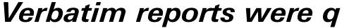 Univers Next Paneuropean W1G 631 Bold Italic sample