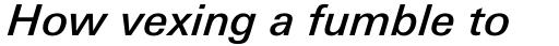 Univers Next Pro Cyrillic 531 Medium Italic sample