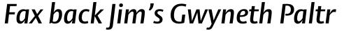 Vesta Pro SemiBold Italic sample