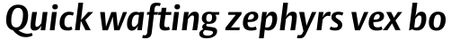 Vesta Pro Bold Italic sample