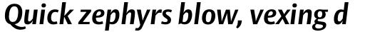Vesta Std Bold Italic sample