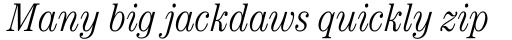 ITC Century Cond Light Italic sample