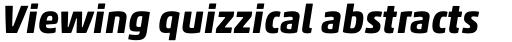 Akko Pro Bold Italic sample