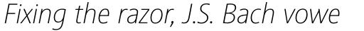 Sinova Std Thin Italic sample