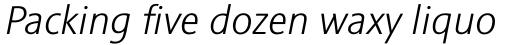 Sinova Std Light Italic sample
