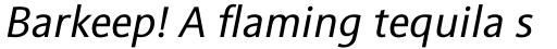 Sinova Std Italic sample