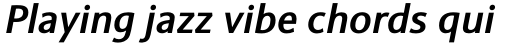 Sinova Std Medium Italic sample