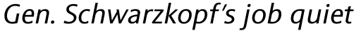 Sinova Pro Italic sample