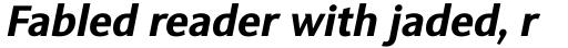 Sinova Pro Bold Italic sample