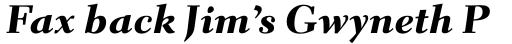 Parkinson Electra Pro Heavy Italic sample