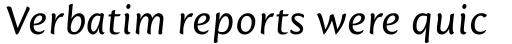 Mantika Sans Pro Italic sample