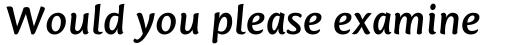 Mantika Sans Std Bold Italic sample