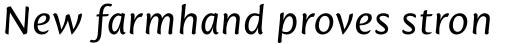 Mantika Sans Pro Cyrillic Italic sample