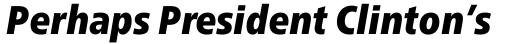Neue Frutiger Paneuropean W1G Condensed ExtraBlack Italic sample