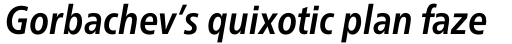 Neue Frutiger Pro Cyrillic Condensed Bold Italic sample