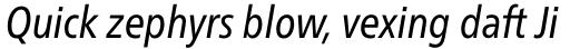 Neue Frutiger Pro Cyrillic Condensed Italic sample