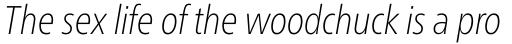 Neue Frutiger Pro Cyrillic Condensed Thin Italic sample