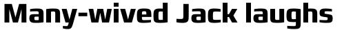 Francker Std Condensed Bold sample