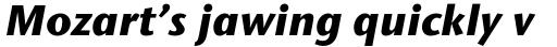 ITC Stone Sans Std Bold Italic sample